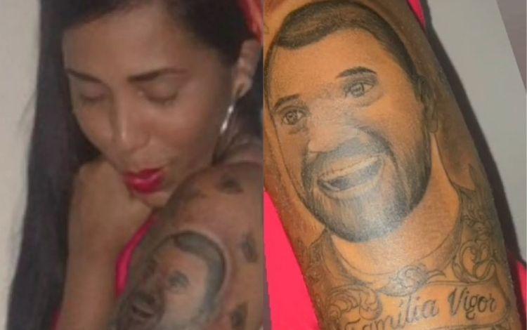 Irmã de Gilberto, do 'BBB 21', diz que tatuou caricatura dele por amor: 'Saiu como eu queria' – Jovem Pan