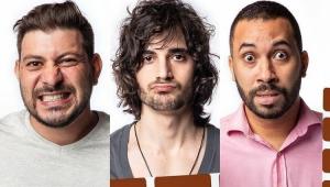 Caio, Fiuk e Gilberto