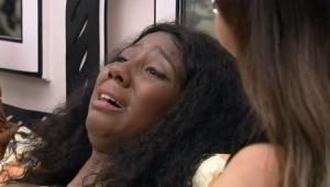 Camilla de Lucas chorando no BBB 21