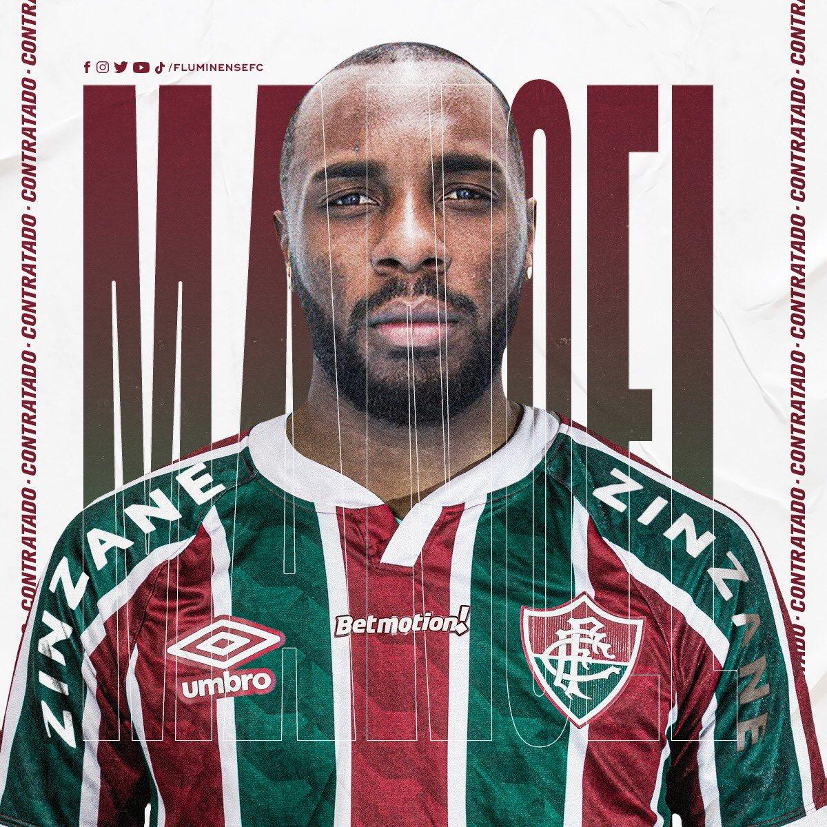 zagueiro Manoel, no Fluminense