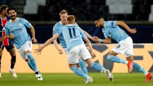 O Manchester City venceu o PSG por 2 a 1 na semifinal da Liga dos Campeões