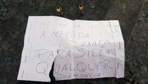 carta de ameaça a jornalista