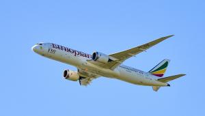Avião da companhia aerea Ethiopian Airlines