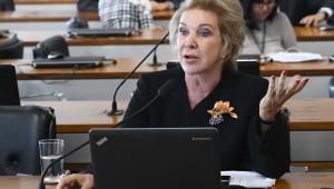 Marta Suplicy discursando em comissão quando ainda era senadora