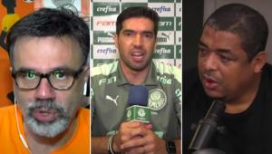 Mauro e Vampeta discutiram sobre as falas de Abel Ferreira