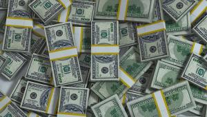 Imagem mostra diversos de notas de dólares
