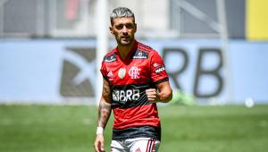 Arrascaeta durante final da Supercopa do Brasil entre Flamengo e Palmeiras
