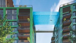 Londres inaugura primeira piscina transparente suspensa entre dois prédios do mundo