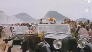 rainha elizabeth dentro de carro no rio de janeiro