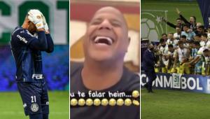 Marcelinho Carioca brincou com o vice do Palmeiras na Recopa Sul-Americana