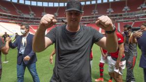 Rogério Ceni comemora conquista do título da Supercopa do Brasil pelo Flamengo