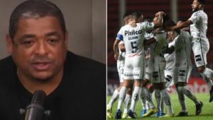 Vampeta exalta o Santos após a vitória sobre o San Lorenzo