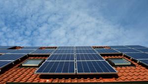 Casa com instalação de sistema de energia solar