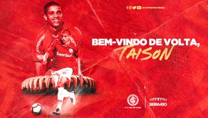 O Inter repatriou o atacante Taison