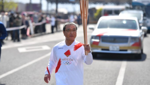 O Revezamento da tocha olímpica está acontecendo no Japão