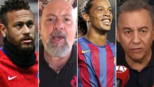 Nilson Cesar e Flavio Prado debateram sobre a qualidade de Neymar e Ronaldinho Gaúcho