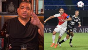 Vampeta criticou a atuação do Corinthians no empate com o River Plate, do Paraguai