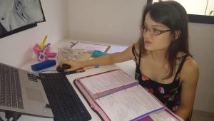 Elisa Flemer, aluna aprovada na USP