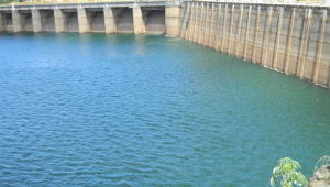 Vista parcial do reservatório da Usina Hidrelétrica de Furnas, em Minas Gerais
