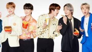 BTS em campanha com o McDonald's