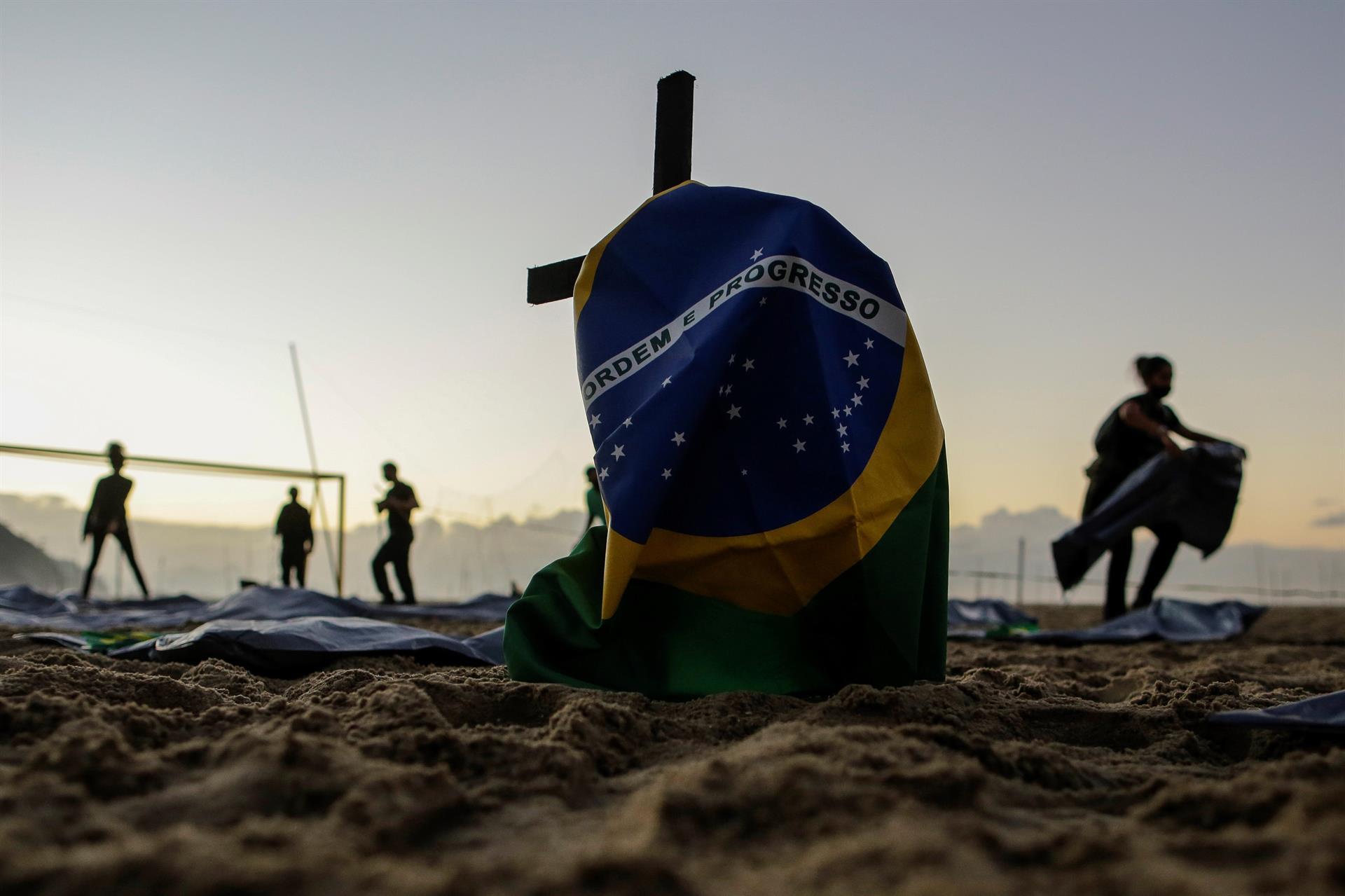 ato da ong Rio de Paz pelos 400 mil mortos
