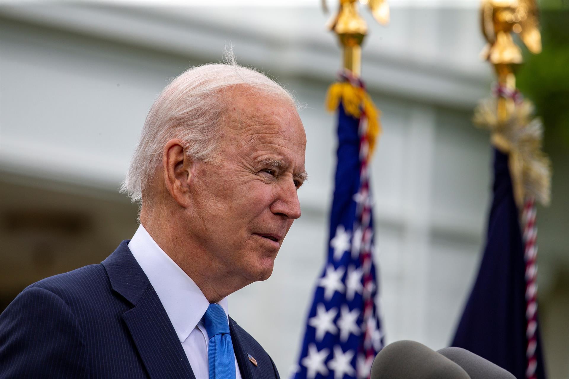 O presidente dos Estados Unidos, Joe Biden, fala durante coletiva de imprensa na Casa Branca