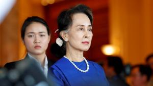 Líder deposta do Myanmar, Aung Suu Kyi