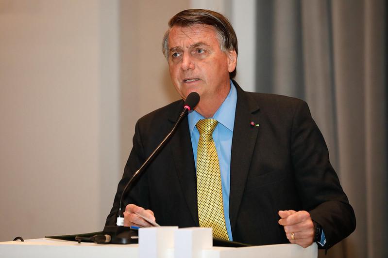 Jair Bolsonaro discursando
