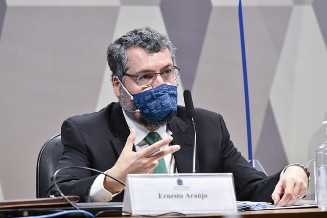 Ex-chanceler em reunião na CPI da Covid-19