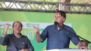 Bolsonaro falando em evento