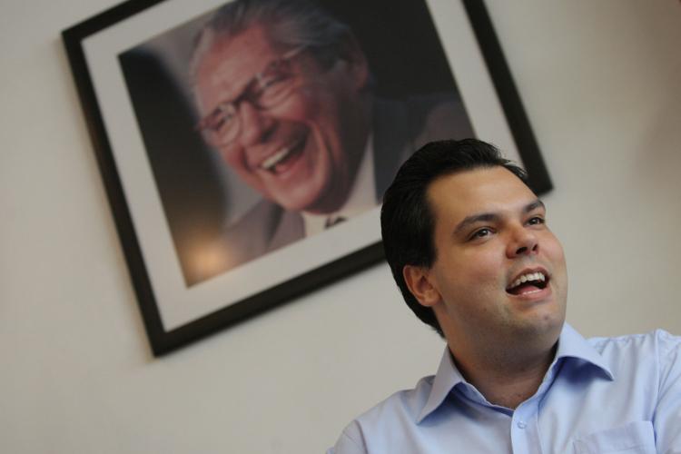 Bruno Covas durante seu mandato como secretário estadual do meio ambiente
