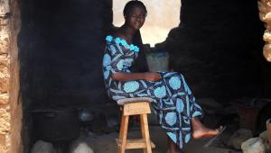 Retrato de Joy Paul Kurmi, uma dos estudantes sequestrados de universidade em Kaduna