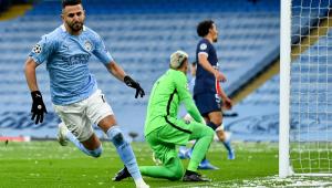 Mahrez marcou duas vezes na vitória do Manchester City contra o PSG pela semi da Liga dos Campeões