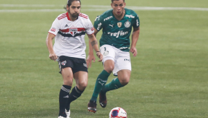 Martín Benítez durante a decisão entre Palmeiras e São Paulo