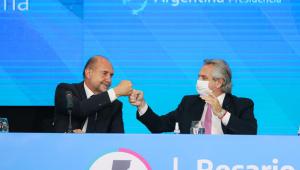 Alberto Fernández (à direita) é o atual presidente da Argentina