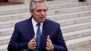 O presidente da Argentina, Alberto Fernandéz