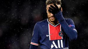 neymar durante jogo da Liga dos Campeões