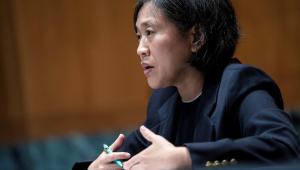 A Representante de Comércio dos Estados Unidos, Katherine Tai