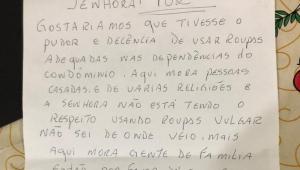 carta recebida por jovem