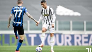 Cristiano Ronaldo em jogo da Juventus