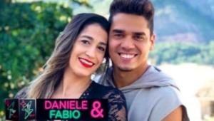 Daniele Hypolito abraçada com Fabio Castro