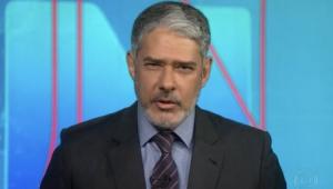 William Bonner de Barba no Jornal Nacional