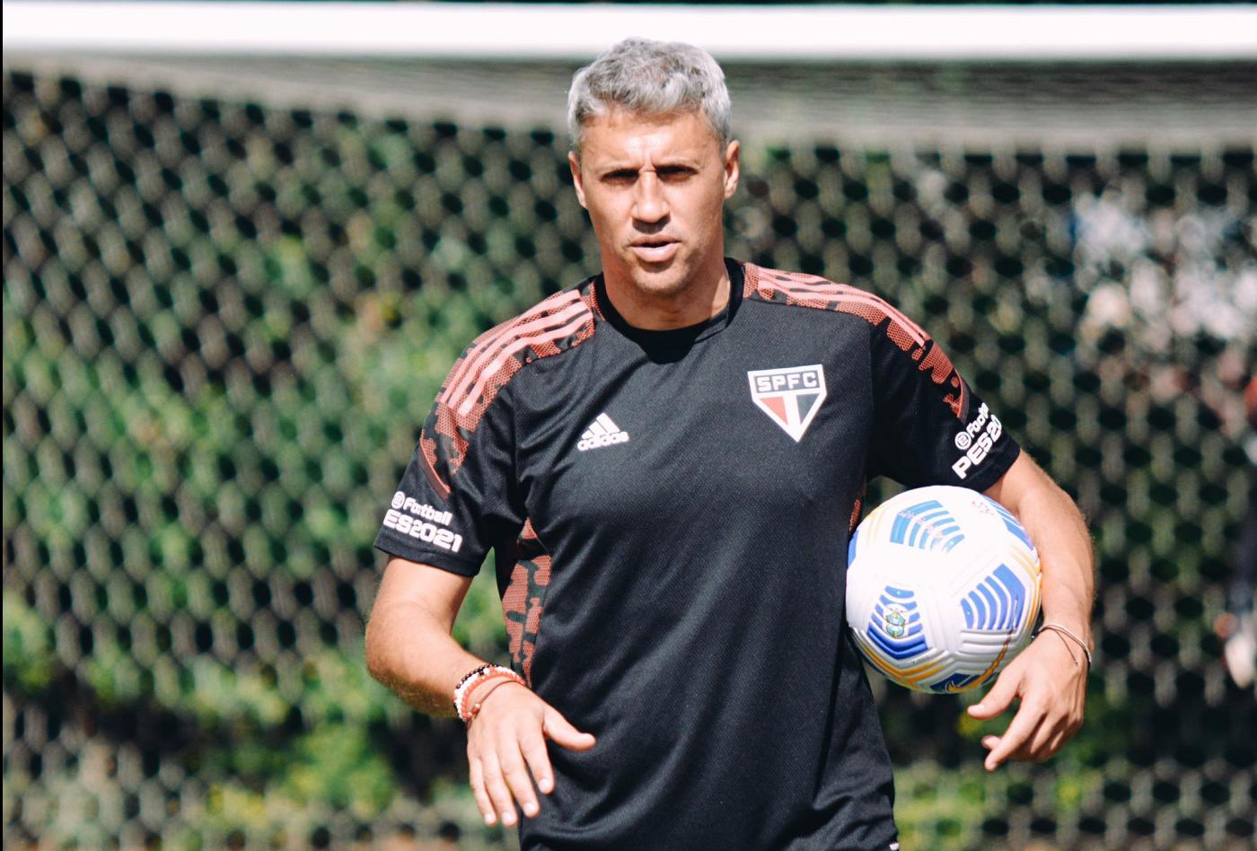 hernán crespo durante treino do São Paulo fc