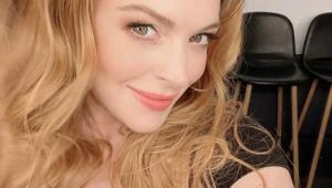 Selfie da atriz Lindsay Lohan