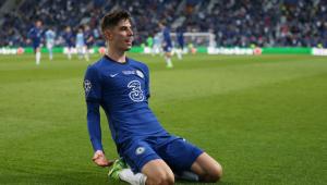 Kai Havertz comemora gol do Chelsea
