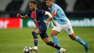Neymar durante derrota do PSG para o Manchester City