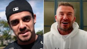 Fagner recebeu uma surpresa de David Beckham