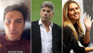 O ex-BBB Felipe Prior pediu para Carol Portaluppi convencer o pai Renato Gaúcho a fechar com o Corinthians