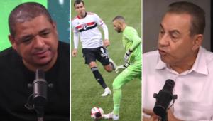 Vampeta e Flavio Prado discutiram sobre a qualidade do futebol apresentado na final do Paulistão