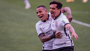 Fagner marcou na partida entre Corinthians e Inter de Limeira